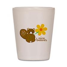 Nice Beaver Shot Glass