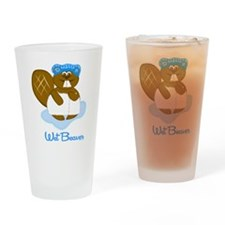 Wet Beaver Drinking Glass