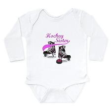 Hockey Sister Long Sleeve Infant Bodysuit