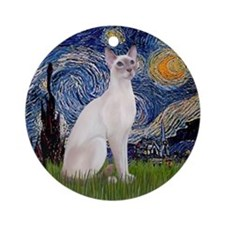 Starry Night - Siamese Cat (LilacPt) - Ornament
