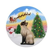 Take Off (1) & Siamese (CP) Ornament (Round)