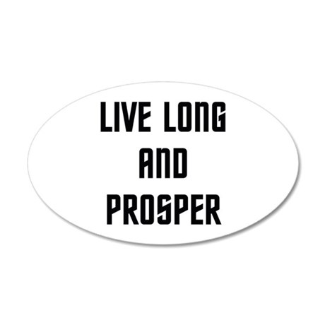 Live Long and Prosper 38.5 x 24.5 Oval Wall Peel