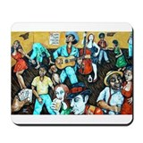 FOLK ART BLUES Mousepad