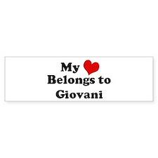 My Heart: Giovani Bumper Bumper Sticker