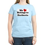 My Heart: Heriberto Women's Pink T-Shirt