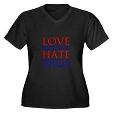 Love Rowing - Hate Ergs Women's Plus Size V-Neck D