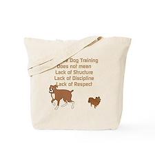 Positive Dog Training Tote Bag