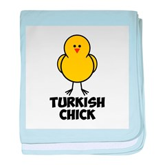 Turkish Chick baby blanket