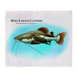Red-Tailed Catfish Throw Blanket