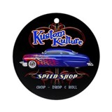 Kustom Kulture - Blue Lead Sled Ornament (Round)