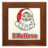 I Believe Santa 3 Framed Tile