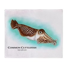 Common Cuttlefish Throw Blanket