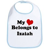 My Heart: Izaiah Bib