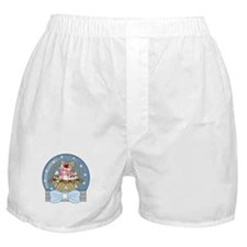 Pig Snow-Globe Holiday Boxer Shorts