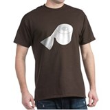 Roll de Toilet Paper Black T-Shirt