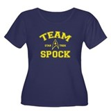 Team Spock - Star Trek Women's Plus Size Scoop Nec