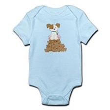 Cute Puppy and Bones Infant Bodysuit