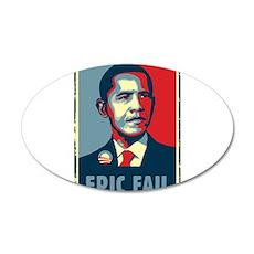Obama - Mistake 38.5 x 24.5 Oval Wall Peel