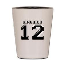 Newt Gingrich 2012 Shot Glass