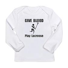 Lacrosse Give Blood Long Sleeve Infant T-Shirt