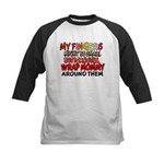 FINGERS WRAP MOMMY Kids Baseball Jersey