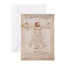 Vitruvian Claus Greeting Cards (Pk of 20)
