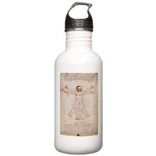 Vitruvian Claus Water Bottle