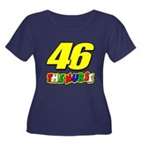 VR46nurse Women's Plus Size Scoop Neck Dark T-Shir