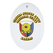 Army National Guard - Kansas Ornament (Oval)