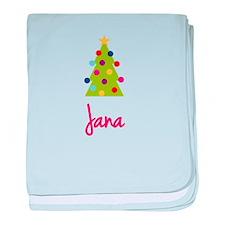 Christmas Tree Jana baby blanket