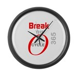 OYOOS Break the Cycle design Large Wall Clock