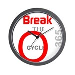 OYOOS Break the Cycle design Wall Clock