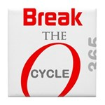 OYOOS Break the Cycle design Tile Coaster