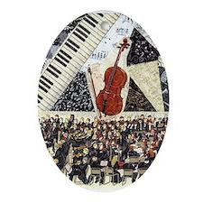 Cello and Orchestra Ornament