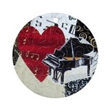 Piano and Heart Ornament