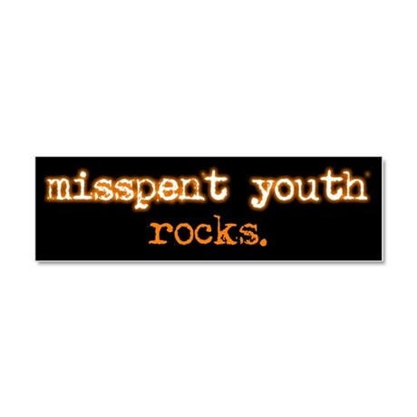 Misspent Youth Car Magnet 10 x 3