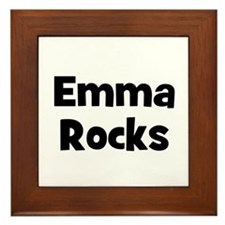 Emma Rocks Framed Tile