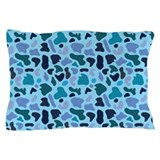 Blue Leopard Pillow Case