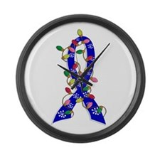 Christmas Lights Ribbon Anal Cancer Large Wall Clo