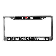 Love My Catalonian Sheepdog License Plate Frame