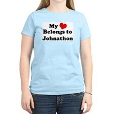 My Heart: Johnathon Women's Pink T-Shirt