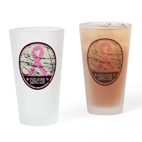 Breast Cancer Survivor Drinking Glass