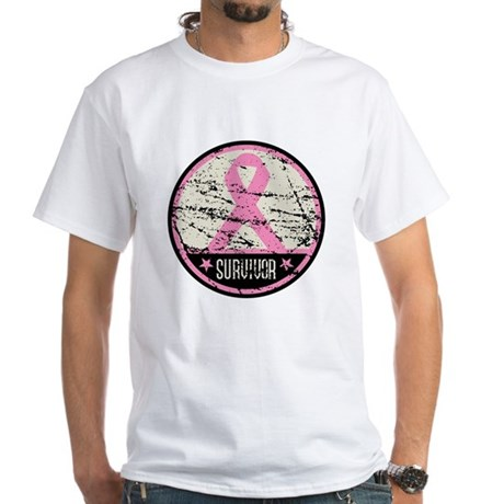 Breast Cancer Survivor White T-Shirt