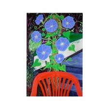 Morning Glories Rectangle Magnet