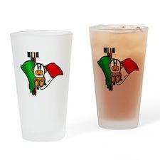Italian Pride Racers Drinking Glass