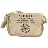 Science is God's Way Messenger Bag