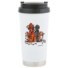 Dog Christmas Party Ceramic Travel Mug
