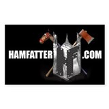 HAMFATTER.COM Rectangle Decal