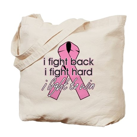I Fight Back Breast Cancer Tote Bag