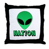 Alien Nation Throw Pillow